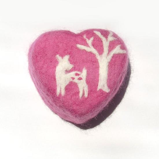 sweet little felted deer soap