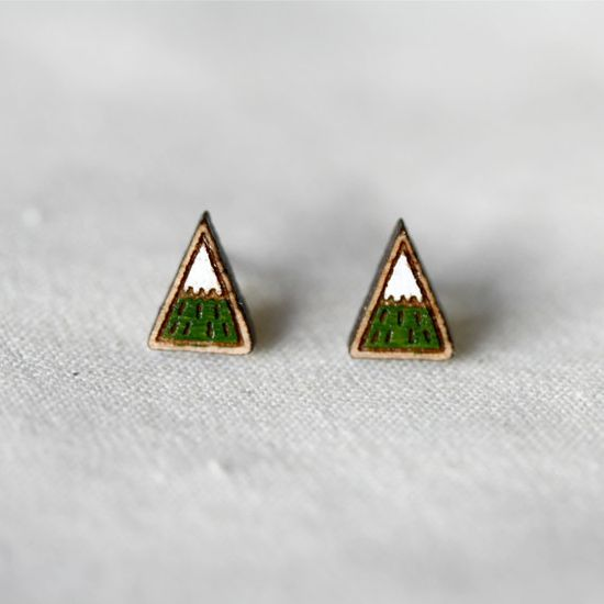 Mountain Stud Earrings
