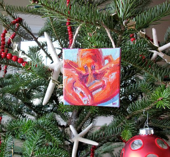 Lobster Original Painted Ornament by betsymclellanstudio on Etsy, $25.00