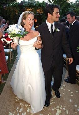 Johnathon Schaech and Christina Applegate #celebrity #wedding