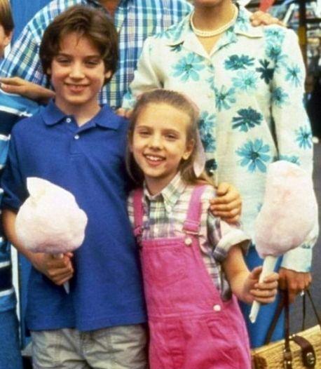 YOUNG: Elijah Wood and Scarlett Johansson.