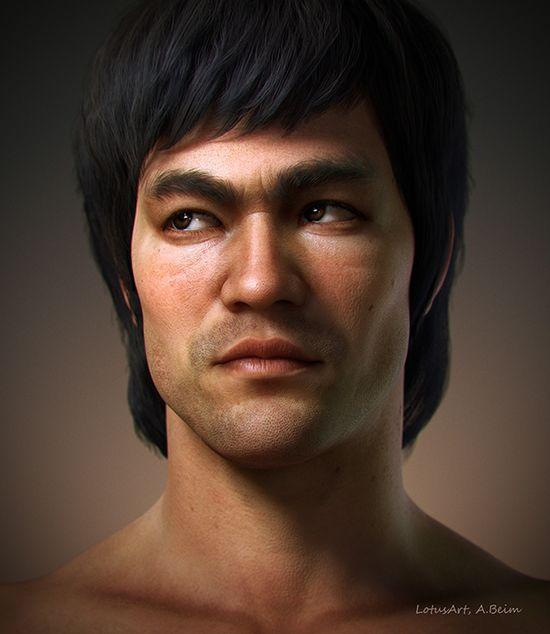 Alexander Beim Sculpts a Super-Realistic 3D Model of Bruce Lee with a Process Video