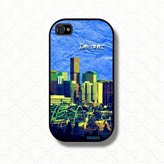 Denver iPhone Case iphone 4s case iphone 4 case - Denver Art phone case.