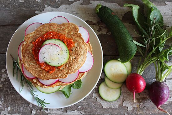 Savory Oat Pancakes