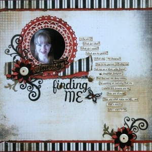Lovely Scrapbook Page by @Tina Doshi Doshi using Jewel Flowers and Flourishes, and Jewel keys.