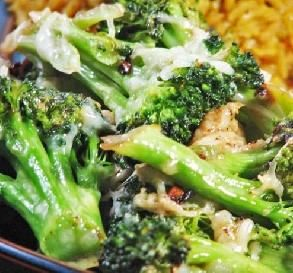 "MMMMMM, Veggie Love! Lemon-Parmesan Broccoli: ""What a great change from plain steamed broccoli! The garlic and lemon really gave it a nice, bright flavor."""