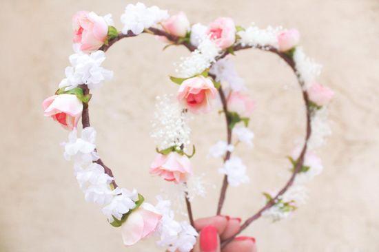 wedding flower bridal hair accessory pink roses hair