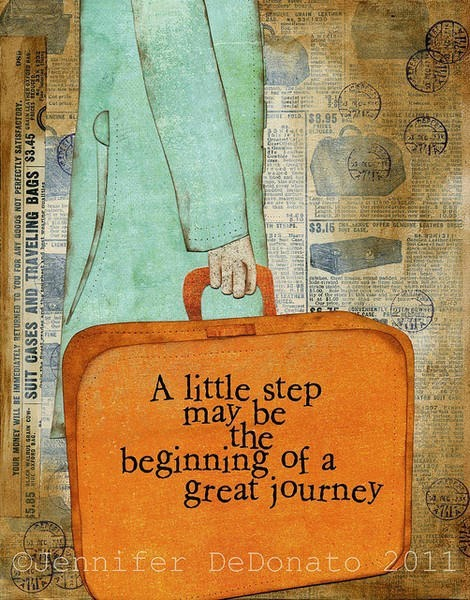 a little step may be the beginning of a great journey