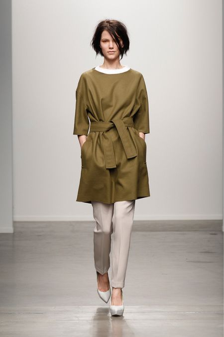 NYFW Karen Walker Fall 2013, olive