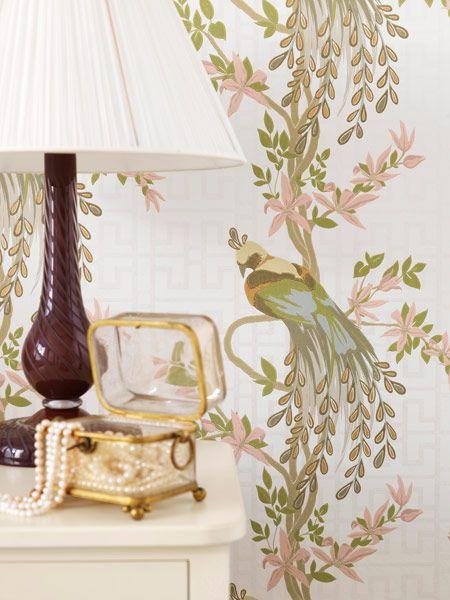 Birds Wallpaper by Nina Campbell