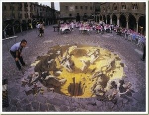 amazing 3d sidewalk chalk art by Julian Beever
