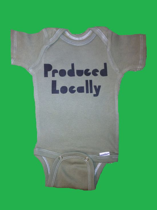 Produced Locally Hipster Kids Baby onesie in Army by hipsterkids, $16.00