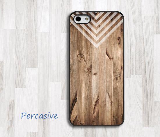Geometric Pattern Wood iPhone Case - iPhone 5 Case, iPhone 4 Case, iPhone 4s Cover