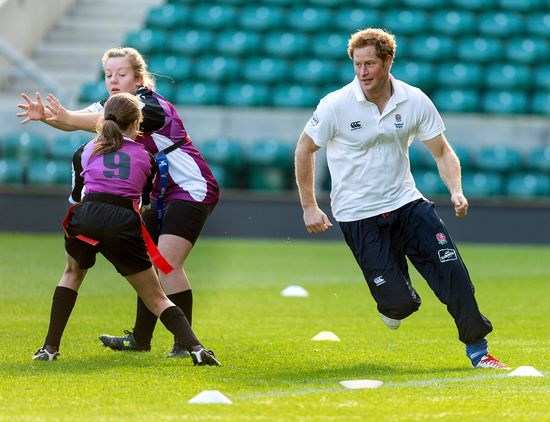 Royal rugby match: Prince Harry gets cute kids to love the sport
