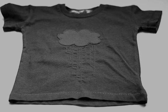 Raincloud shirt #black #grey #kids #clouds #rain