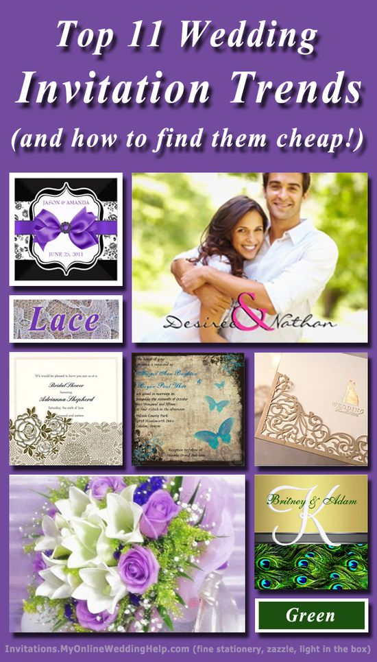 Top 11 Trends in Wedding Invitations