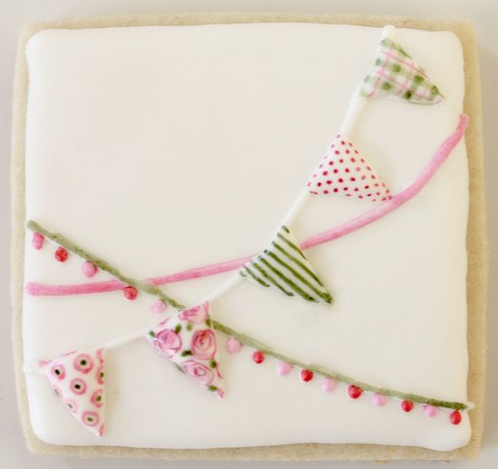 pink green bunting
