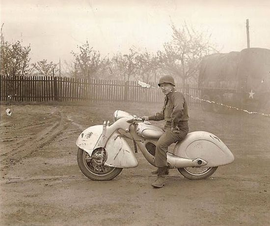 Unusual German motorbike circa 1945