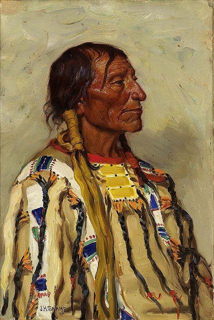 Native American Joseph Henry Sharp Chief Flat Iron 2, via Flickr.