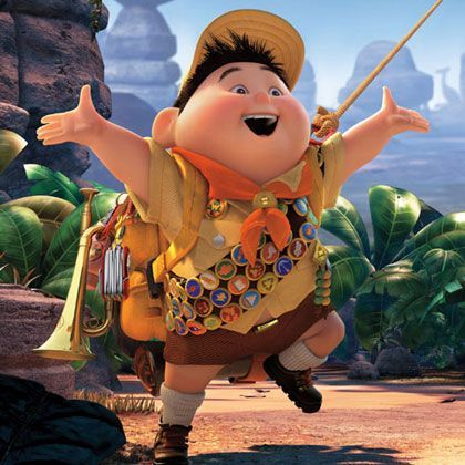 UP Russell 3D Character