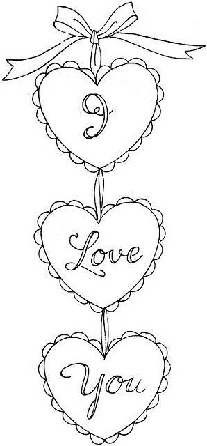 Vintage Valentine Embroidery Transfer