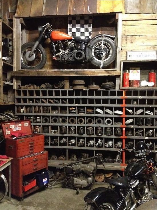 Old Motorcycle Shop