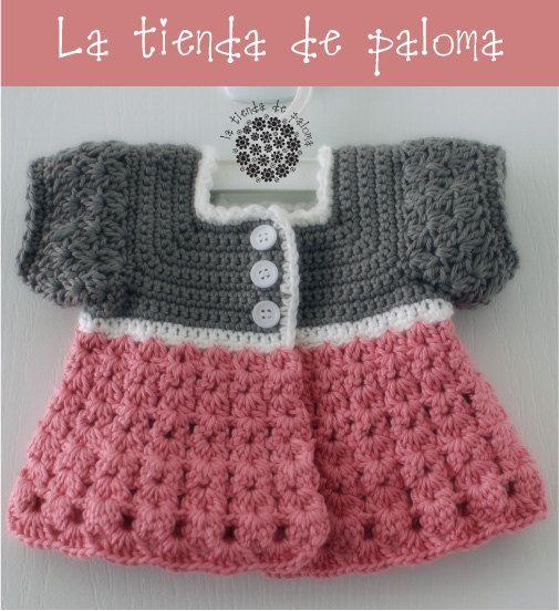 Crochet baby girl cardigan