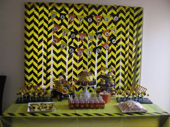 Backdrop for a Construction Party #construction #party
