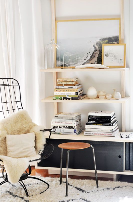 Book shelf and chairs...