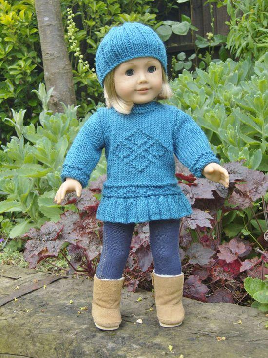 American Girl Doll.Diamonds are Forever Set  PDF Knitting Pattern No 13