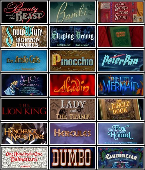 Disney Movie Titles