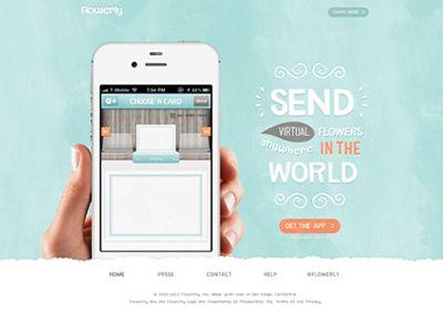 IOS iPhone App Homepage Design for Flowerly by Julien Renvoye