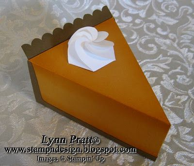 pie box FREE template... wanna try this with the Petal Cone Die