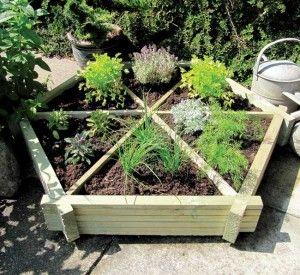 raised herb garden -