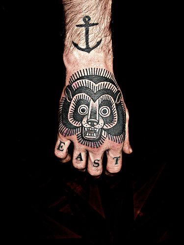 Bear tattoo by Mark Cross