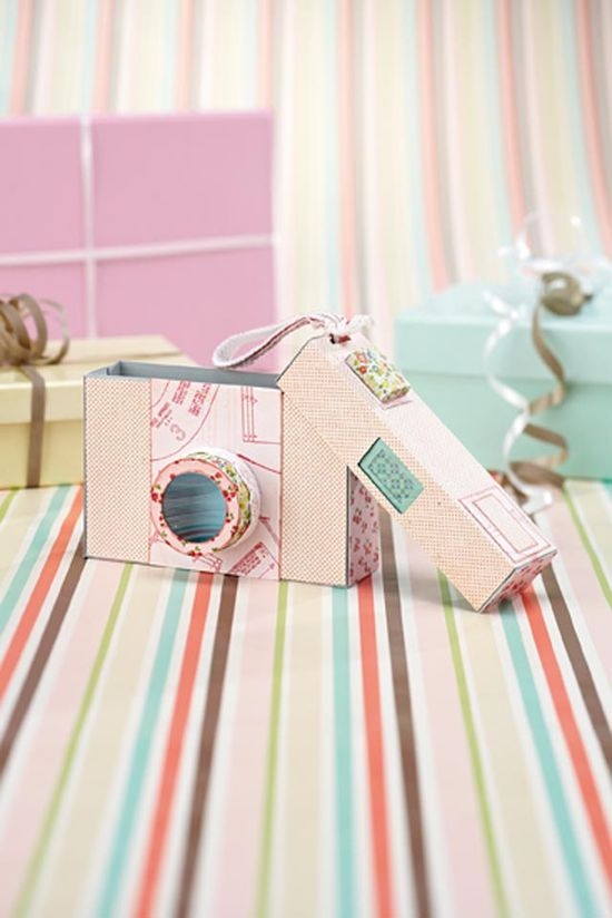 Free camera gift box template