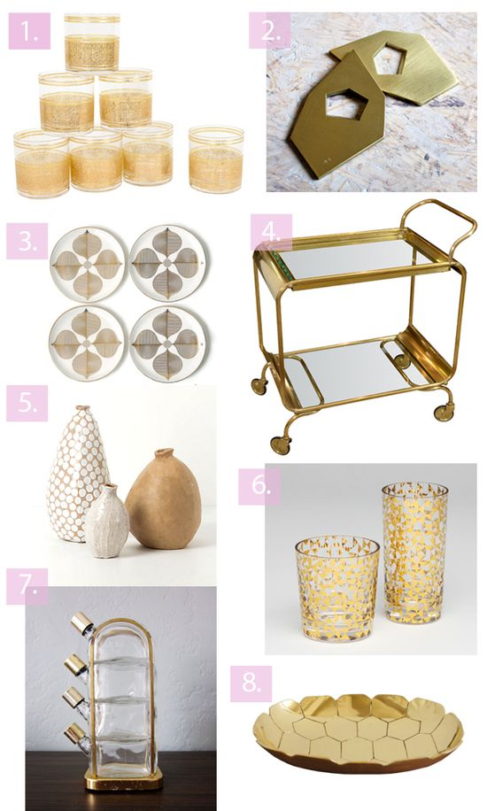 Bar cart roundups on the blog today. Totally appropriate for a monday morning, i know.