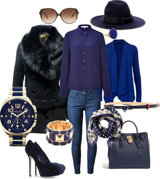 """Perfect work style - Blue"" by rossellalola on Polyvore"