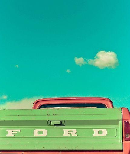 old ford in #orange   #green #blue