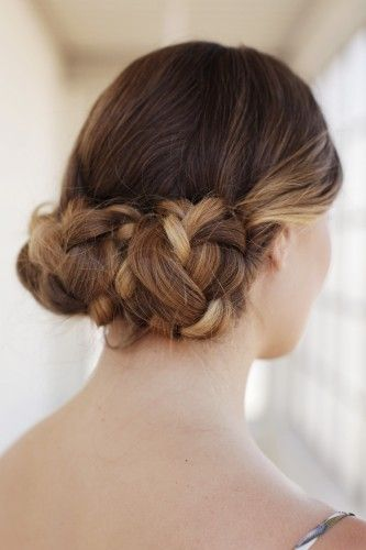 DIY braid chignon