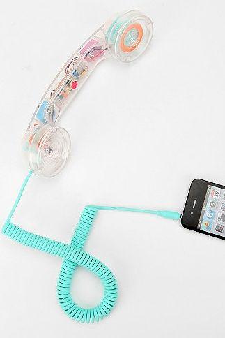 Clear Pop Phone Handset #luvocracy #techaccessories #iphone #design