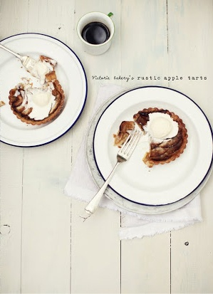 rustic apple tarts
