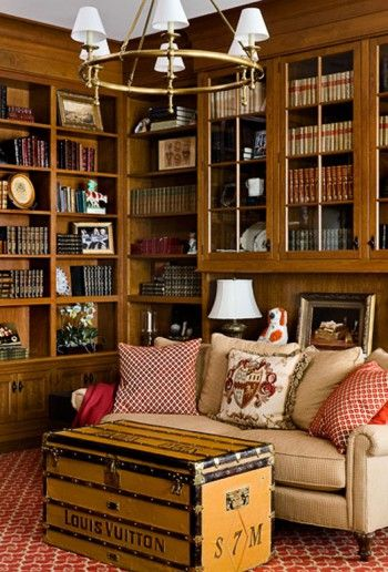 There is nothing like a cozy paneled library!