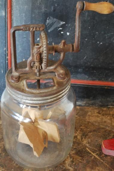 Antique Primitive Dazey Jar Butter Churn by redroosterbab on Etsy, $149.99