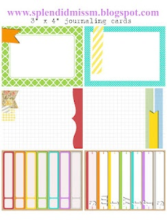 "Project Life - Free 3"" x 4"" journaling cards from www.splendidmissm..."