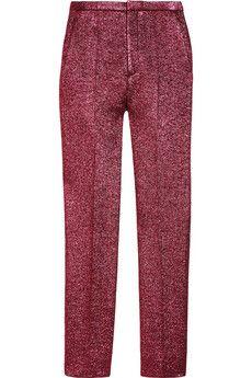 cropped metallic trouser