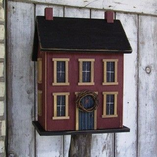 Gorgeous handmade birdhouses. DoorCountyWoodworks on Etsy. Bought one for a friend that looked like her house--awesome gift.