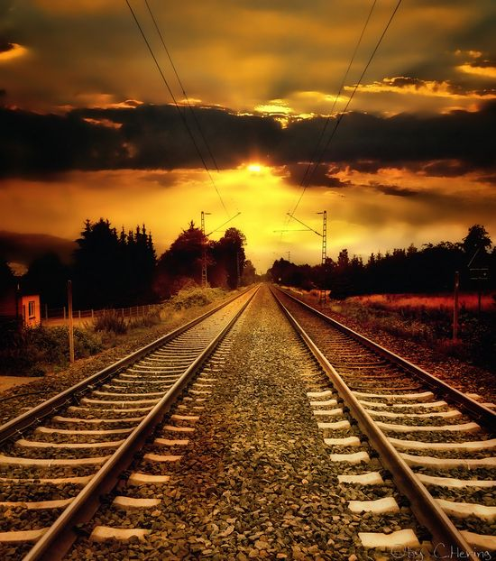 Yellow Sunset #railroad