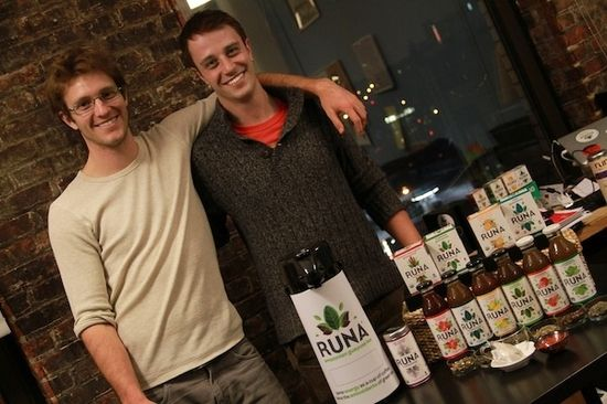 Dan and Tyler with Runa Product