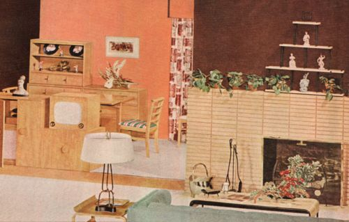 Modern Home Interior - 1953